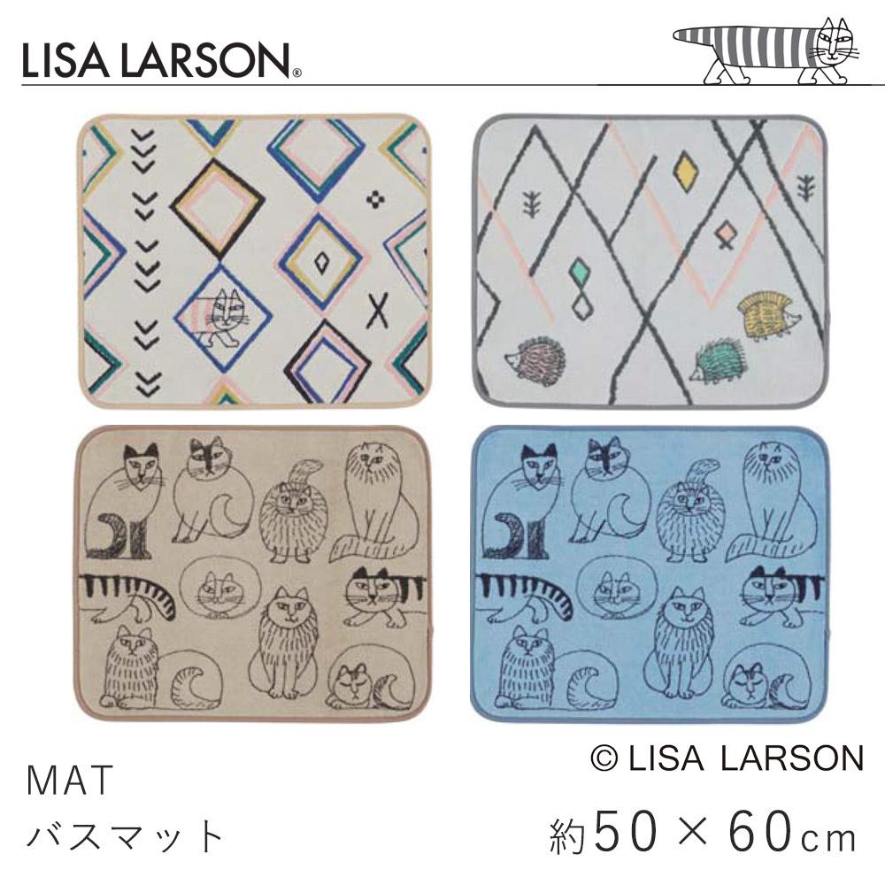 LISA LAERSON リサ・ラーソンのかわいいキャラクター バスマット 約50×60cm