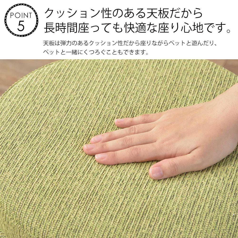 弾力のあるクッション性で長時間座っても快適な座り心地