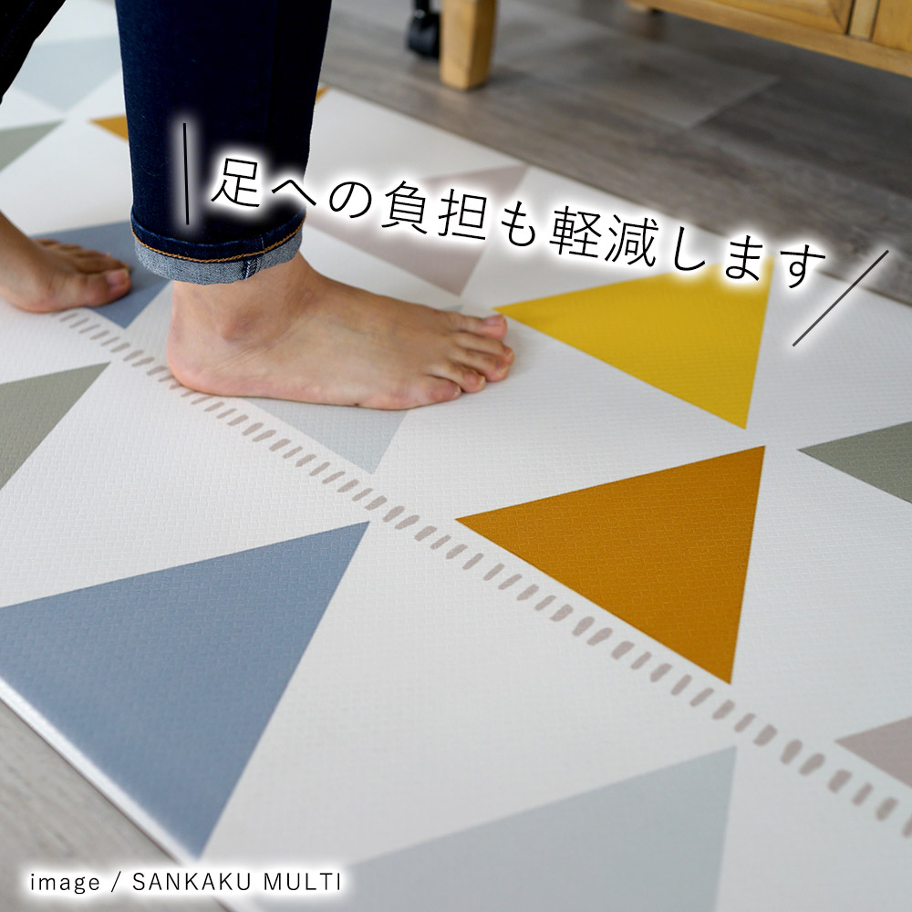 長時間の立ち仕事でも、足への負担が軽減されます。