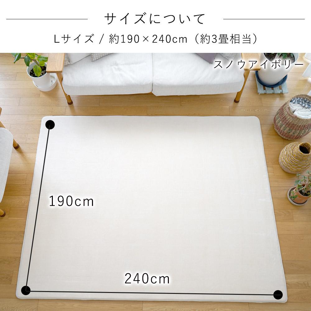約190×240cm(約3畳相当)