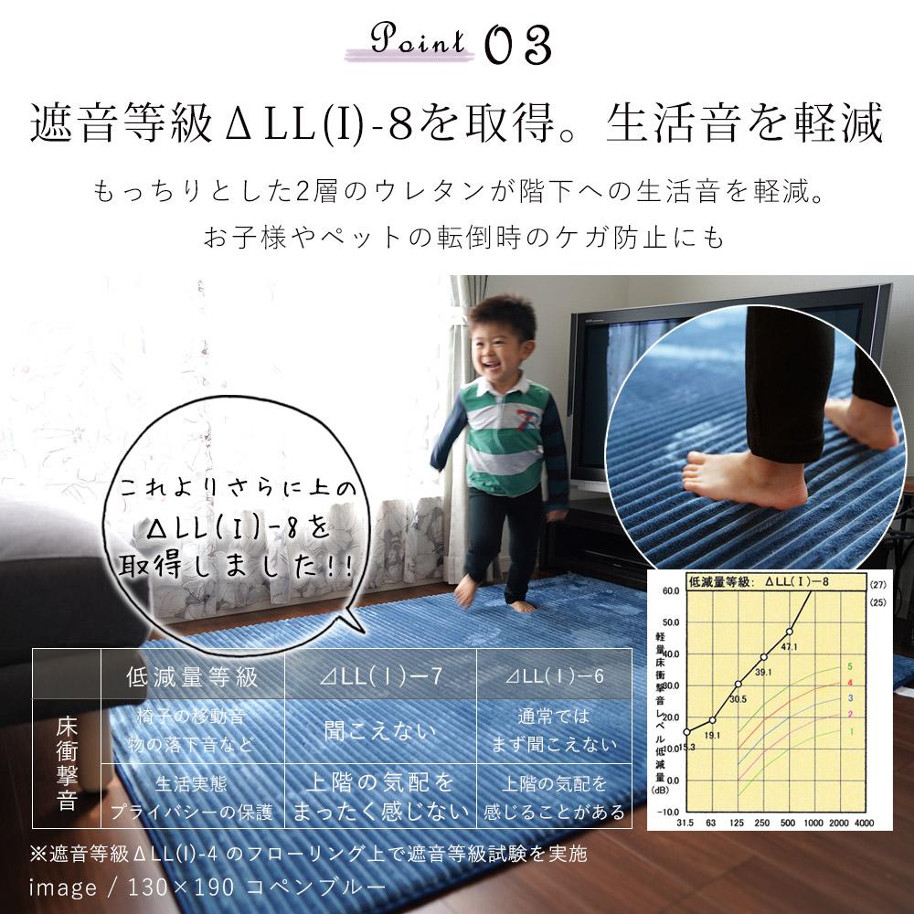 低反発X高反発の2層ウレタンが生活音を軽減する効果があるので、<br />        小さなお子様やペットの足音が気になる方にはおすすめです。