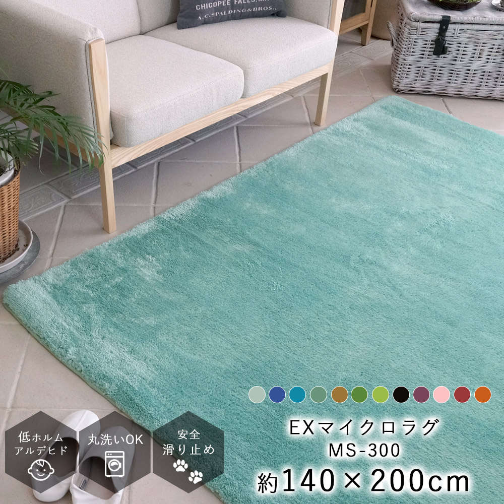 【廃盤カラーのため大特価!】EXマイクロファイバーラグ MS-300 約140×200cm(Sサイズ/約1.5畳相当)