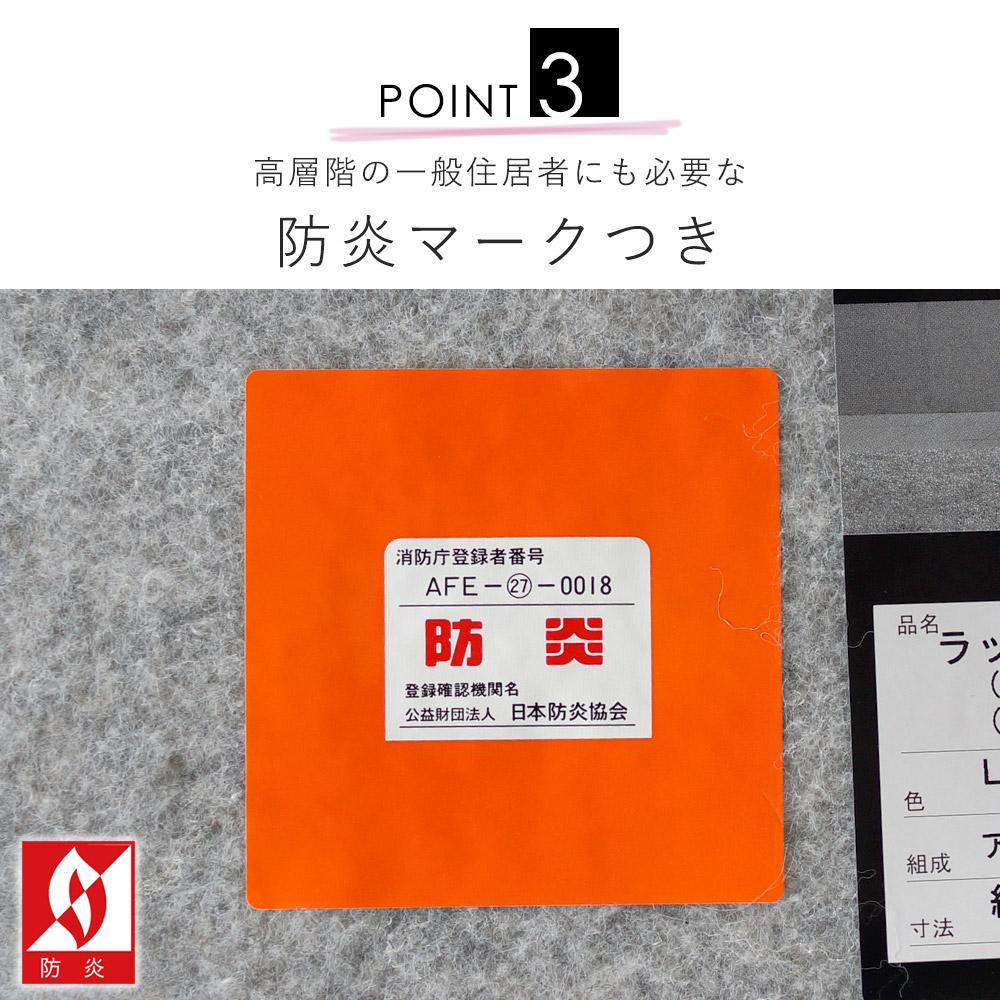 日本防炎協会の防炎性能試験に合格した防炎製品です。