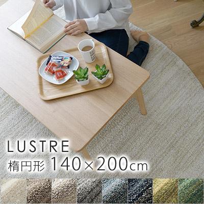 高機能 日本製ラグ リュストル ラグ Sサイズ/約140×200cm(楕円形)