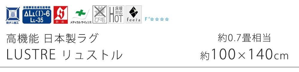 高機能 日本製ラグ リュストル SSサイズ/約100×140cm(約0.7畳相当)