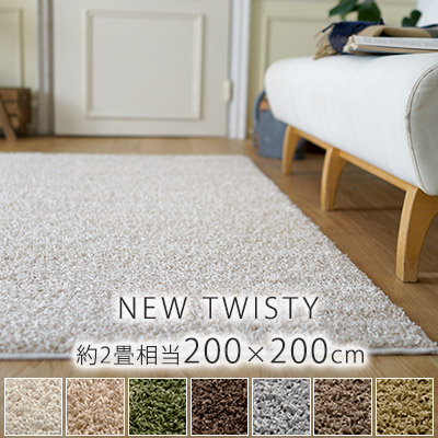 ニューツイスティ ラグ Mサイズ/約200×200cm(約2畳相当)