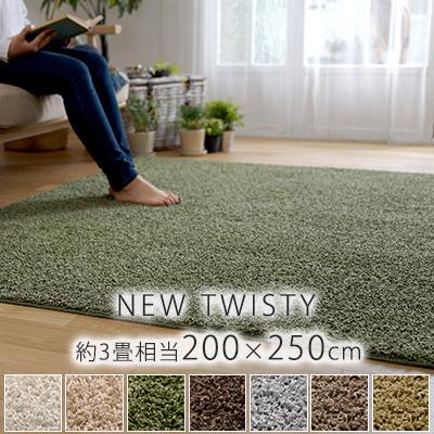 ニューツイスティ ラグ Lサイズ/約200×250cm(約3畳相当)