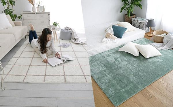 <span>足元がひんやりする季節になってきました。</span>床暖房・ホットカーペットと一緒に使ってさらにぽかぽか♪足元あったかラグ揃ってます